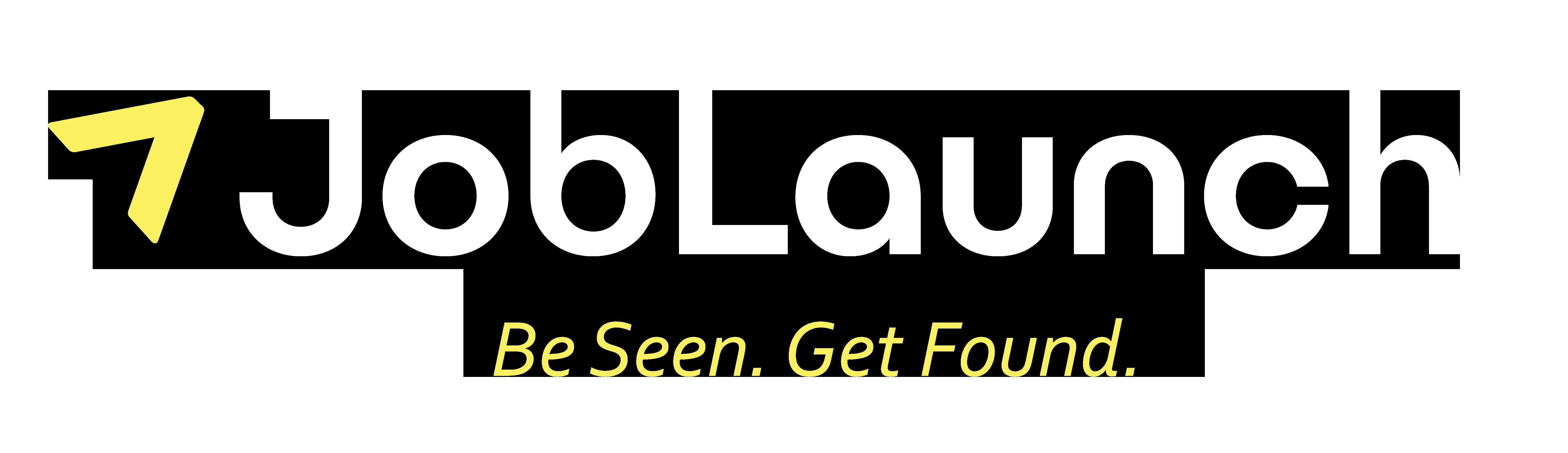 Joblaunch logo whiteandyellow