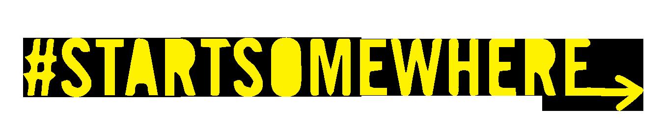 Startsomewhere logo revised yellow