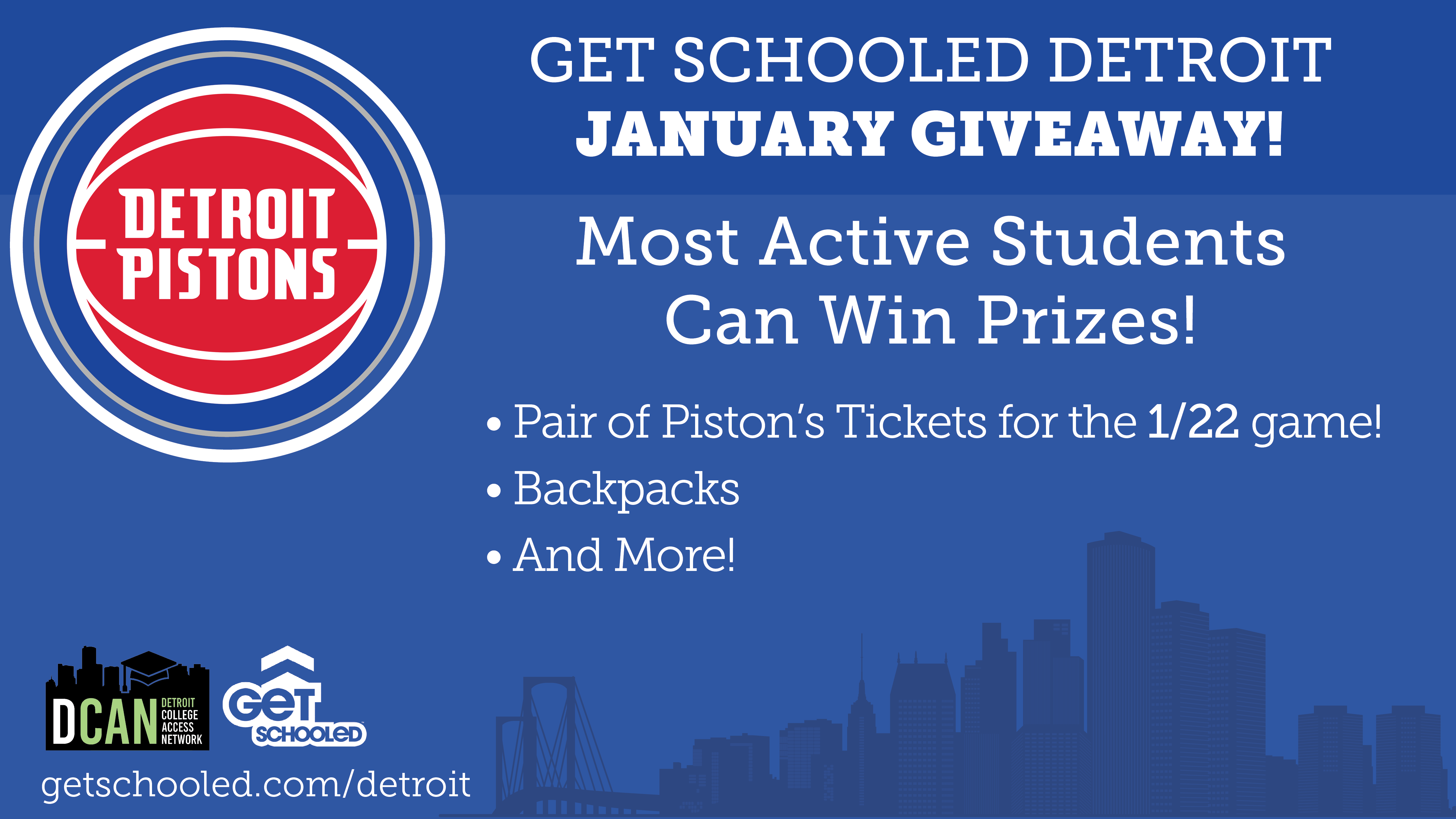 Get Schooled Detroit Pistons Ticket Giveaway